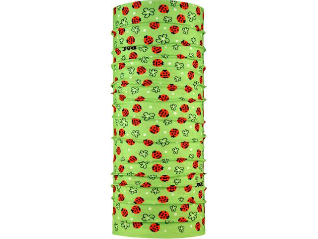 P.A.C. Wielofunkcyjne nakrycie głowy Dzieci, zielony/czerwony